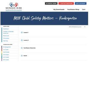 MBF Child Safety Matters Grade Level Digital Curriculum - Kindergarten