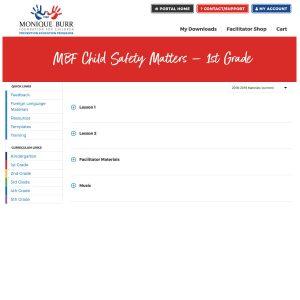 MBF Child Safety Matters Grade Level Digital Curriculum - 1st Grade