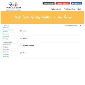 MBF Child Safety Matters Grade Level Digital Curriculum - 2nd Grade