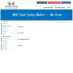 MBF Child Safety Matters Grade Level Digital Curriculum - 4th Grade