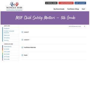 MBF Child Safety Matters Grade Level Digital Curriculum - 5th Grade