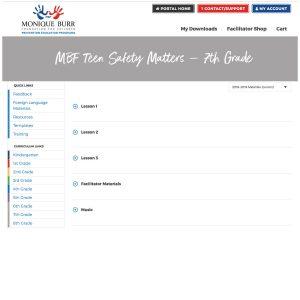 MBF Teen Safety Matters Grade Level Digital Curriculum - 7th Grade